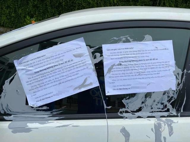 Cư dân một khu chung cư ở Hà Nội đổ keo dán lên xe đỗ dưới lòng đường kèm thông điệp cực choáng gửi đến người hàng xóm thân thương, dân mạng nghe xong mà tức - Ảnh 3.