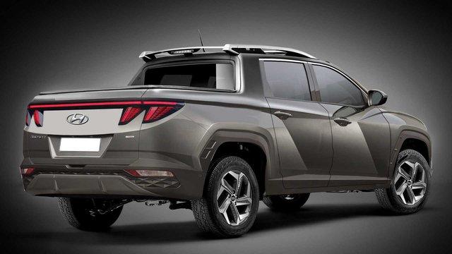Bán tải Hyundai cạnh tranh Ford Ranger mượn thiết kế Tucson đời mới sẽ như thế này... - Ảnh 3.