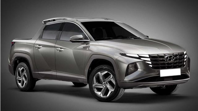 Bán tải Hyundai cạnh tranh Ford Ranger mượn thiết kế Tucson đời mới sẽ như thế này... - Ảnh 2.