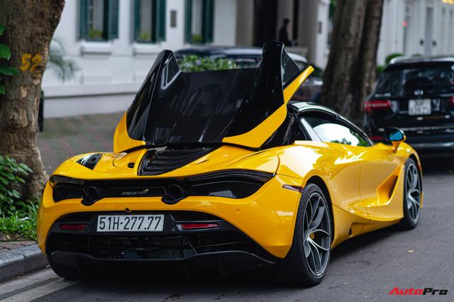 McLaren 720S Spider màu vàng đầu tiên về nước bất ngờ xuất hiện tại Hà Nội sau một thời gian dài lăn bánh tại Sài Gòn - Ảnh 2.