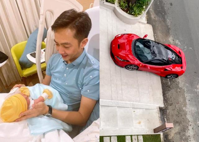 Cường Đô La than thở việc ở nhà chăm con gái cho Đàm Thu Trang lái siêu xe bạc tỉ đi cafe chiều chủ nhật  - Ảnh 1.