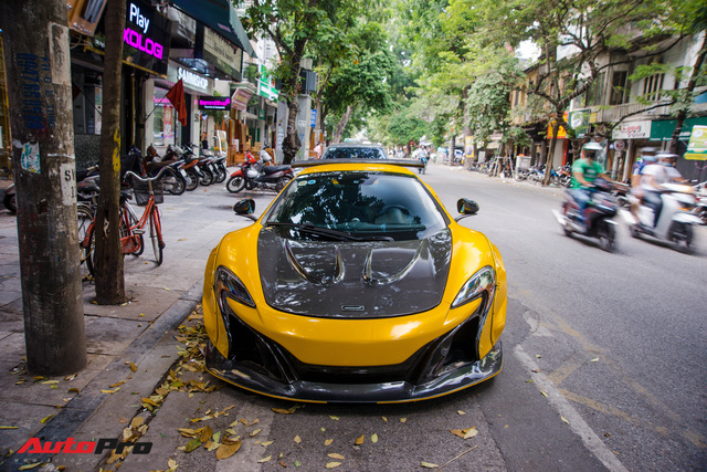 McLaren 650S Spider với gói độ Liberty Walk tái xuất Hà Thành, chủ nhân lược bớt 1 chi tiết nhỏ - Ảnh 2.