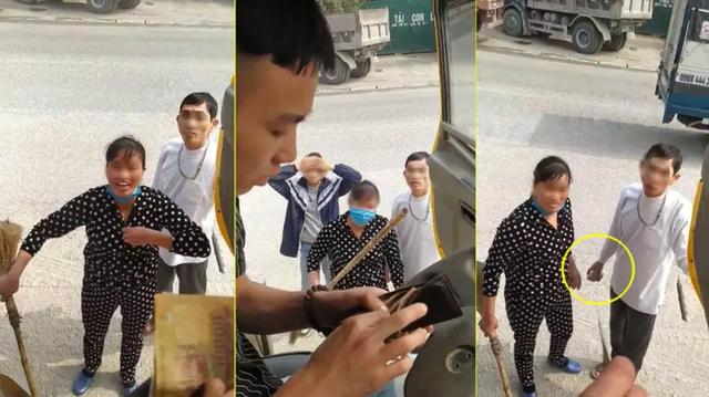 Cặp vợ chồng dọa cởi truồng, tay cầm đá và cán chổi bắt tài xế trả 100 nghìn đồng vì đỗ xe trước cửa - Ảnh 1.