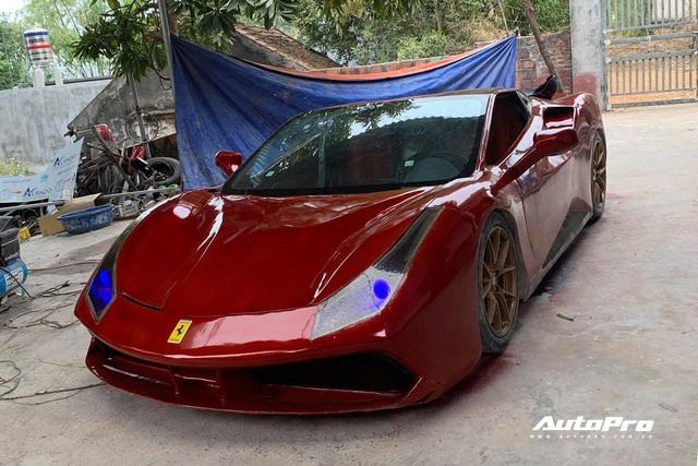 2k Quảng Ninh tự chế siêu xe mô phỏng Ferrari 488 GTB: Mất 4 tháng vừa làm vừa tưởng tượng, đập đi dựng lại nhiều lần, tốn hơn 100 triệu đồng - Ảnh 1.