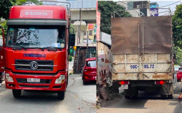 Lập biên bản phạt 17 triệu đồng xe container lùi trên đường vành đai 3 - Ảnh 1.