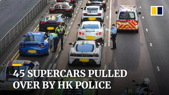 45 siêu xe định đua đường phố với quy mô chưa từng có nhưng bị cảnh sát chặn đứng - Ảnh 1.