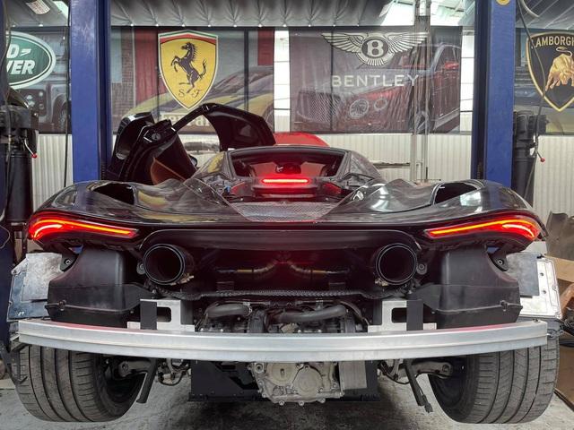 McLaren 720S đầu tiên Việt Nam lên dàn 'đồ chơi' khủng: 4 bánh đắt ngang Kia Morning, mạnh hơn, phụt được lửa - Ảnh 5.