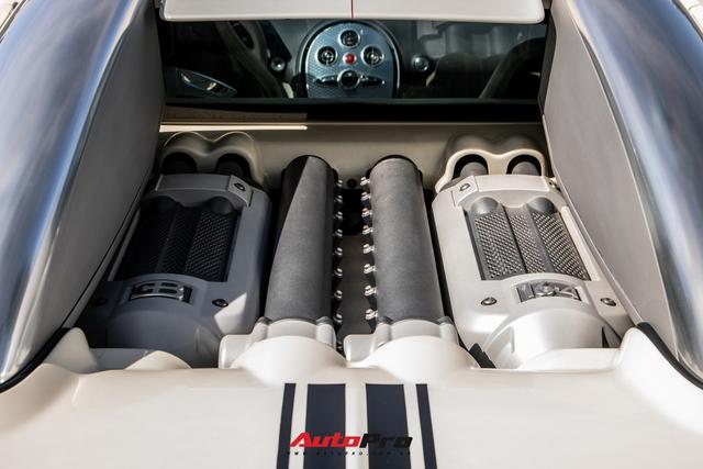 Cận cảnh Bugatti Veyron độc nhất Việt Nam vừa tái xuất sau hai năm vắng bóng: Các chi tiết vẫn như mới sau 13 năm tuổi - Ảnh 8.