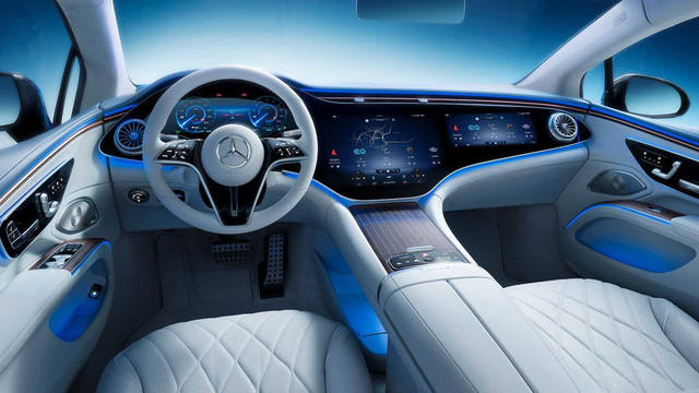 Choáng ngợp nội thất thế hệ mới của Mercedes-Benz: Nguyên táp lô là màn hình khổng lồ - Ảnh 1.