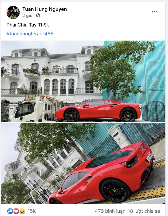 Ca sĩ Tuấn Hưng bán Ferrari 488 GTB, úp mở 'siêu phẩm' mới khiến dân tình tò mò - Ảnh 1.
