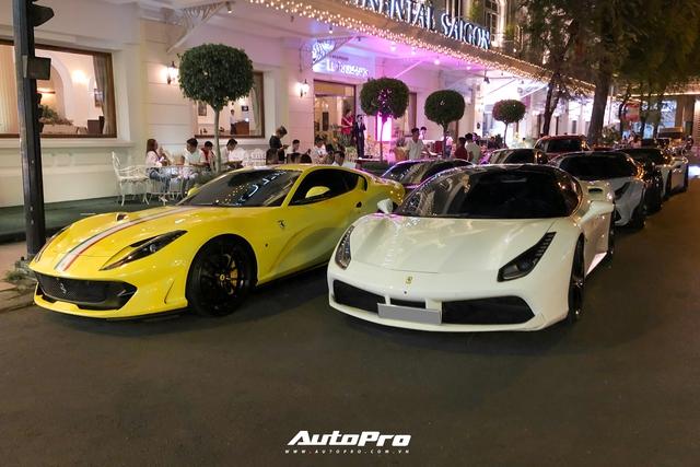 Dàn siêu xe gần trăm tỷ hội ngộ tại Sài Gòn: Ferrari chiếm áp đảo, BMW i8 của Bùi Tiến Dũng cũng góp mặt - Ảnh 1.