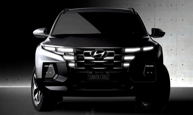 Hyundai Santa Cruz lần đầu lộ diện bản thương mại - Bán tải khung gầm Santa Fe - Ảnh 1.