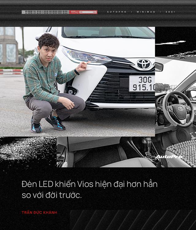 Không phải fan Toyota nhưng chốt 2 chiếc Vios trong 2 tháng dù ưng City, 9X đánh giá: 'Chê thì chê nhưng mua vẫn mua' - Ảnh 4.
