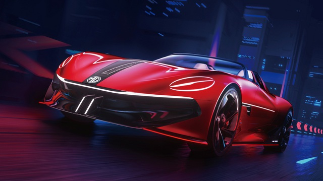 Ra mắt MG Cyberster - Concept siêu xe dị, đèn pha nhắm mở như mắt người