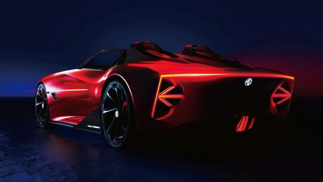 Ra mắt MG Cyberster - Concept siêu xe dị, đèn pha nhắm mở như mắt người - Ảnh 1.