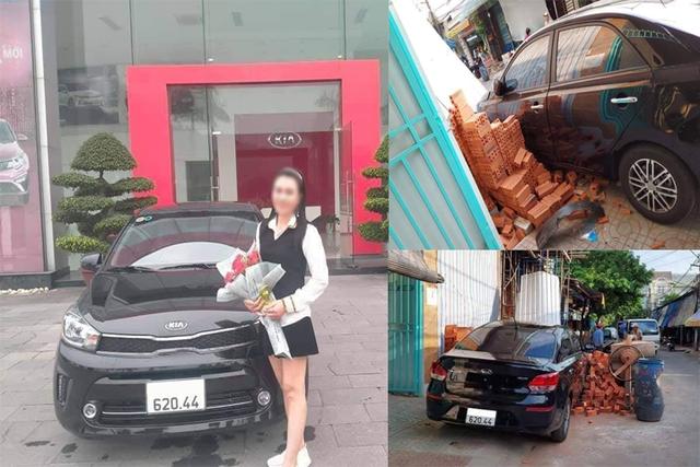 Vừa tươi cười nhận xe mới không lâu, nữ chủ nhân Kia Soluto khiến CĐM bật cười với tình cảnh sau đó - Ảnh 1.