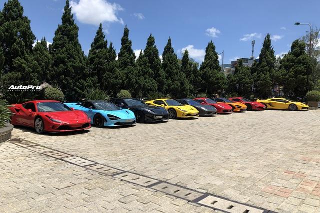 Dàn siêu xe trăm tỷ sặc sỡ hội ngộ tại Đà Lạt, Ferrari F8 Tributo của nữ đại gia trẻ mới sắm cũng góp mặt - Ảnh 2.
