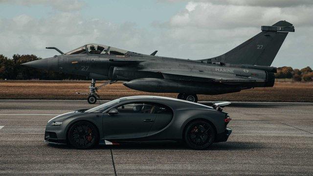 Siêu xe Bugatti đua với máy bay chiến đấu và cái kết làm bất ngờ tất cả - Ảnh 3.