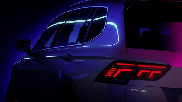 Volkswagen Tiguan Allspace 2022 nhá hàng trước ngày ra mắt: Đèn LED sành điệu, nội thất nhiều công nghệ hơn