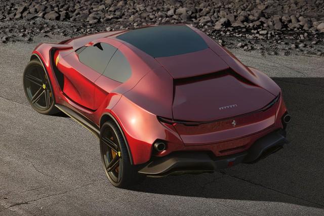 Siêu SUV đầu tiên của Ferrari qua tay dân thiết kế: Hầm hố tới dị dạng - Ảnh 1.