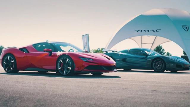 Chấp Ferrari SF90 Stradale chạy trước, siêu xe này vẫn về đích sớm hơn