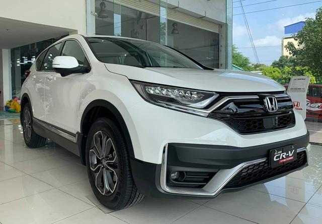 Honda CR-V giảm giá chưa từng thấy tại đại lý: Cao nhất 160 triệu đồng, quyết đua doanh số với CX-5 và Tucson - Ảnh 1.