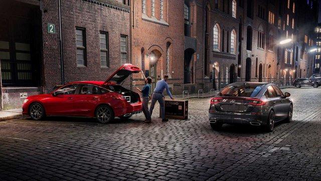 Ra mắt Honda Civic 2022 hatchback: Dáng coupe điệu hơn Mazda3, dễ khiến khách Việt mở lòng với xe đuôi cộc - Ảnh 3.