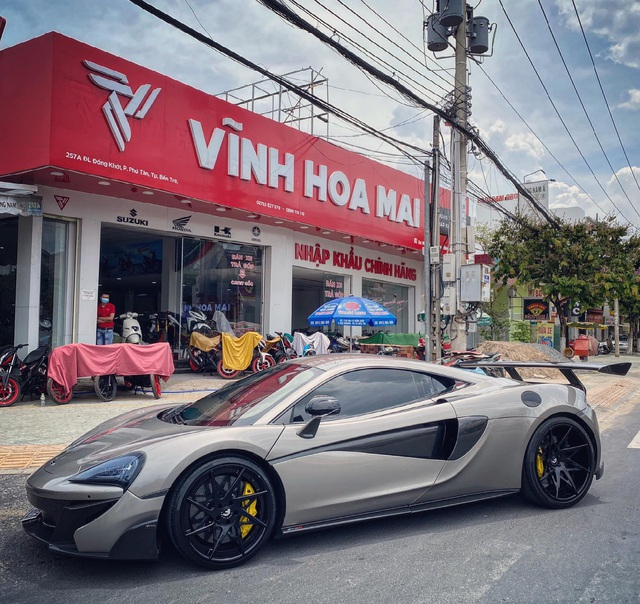 McLaren 570S bản độ độc từng qua tay Nguyễn Quốc Cường và Tống Đông Khuê sang tay đại gia Bến Tre - Ảnh 1.