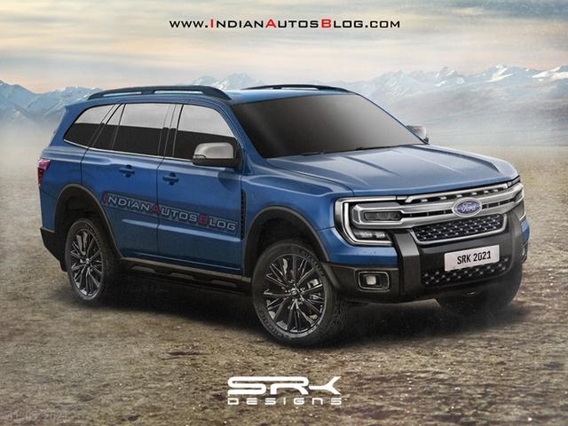 Xem trước nội thất Ford Everest 2022: Sang chảnh hơn, sẽ có 2 màn hình lớn và cần số núm xoay? - Ảnh 1.