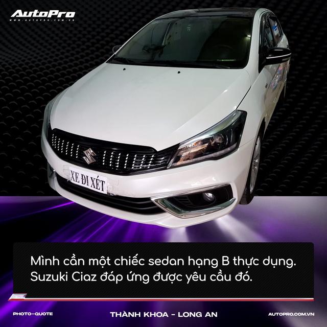 Người mua Suzuki Ciaz: 'Thiết kế không hợp số đông nhưng thực dụng và bền bỉ' - Ảnh 8.