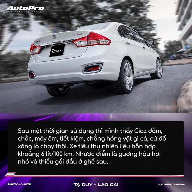 Người mua Suzuki Ciaz: 'Thiết kế không hợp số đông nhưng thực dụng và bền bỉ' - Ảnh 3.