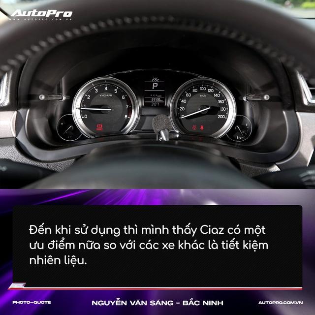 Người mua Suzuki Ciaz: 'Thiết kế không hợp số đông nhưng thực dụng và bền bỉ' - Ảnh 6.