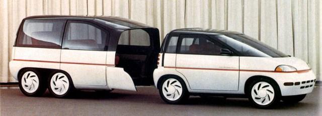 """Những chiếc xe concept kỳ quặc của thập niên 80 – Phần 3: Xe """"hai trong một"""" Plymouth Voyager III - Ảnh 2."""