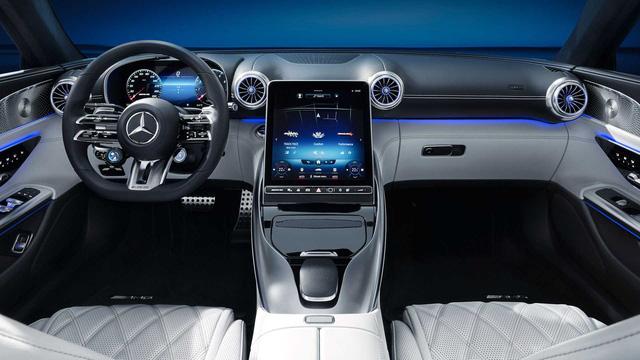 Xe chơi mui trần Mercedes-AMG SL nhá hàng khoang cabin đỉnh cao hơn S-Class, là đối thủ đáng gờm của BMW 8-Series Convertible - Ảnh 1.