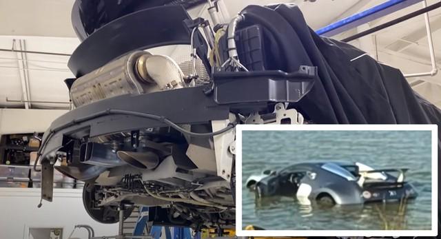Sau 11 năm lưu lạc, Bugatti Veyron đâm xuống hồ nước mặn năm 2009 chuẩn bị được hồi sinh - Ảnh 2.