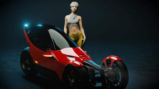 Johnny Trí Nguyễn tiết lộ hậu trường dự án mô tô tự chế: Mất 3 tuần để thiết kế người mẫu giống Nhung Kate vì muốn 'âm dương cân bằng - Ảnh 1.