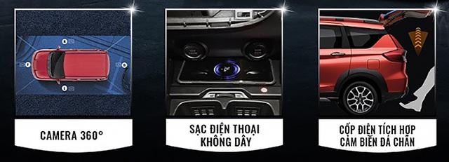 Suzuki XL7 và Ertiga thêm bản đặc biệt tại Việt Nam: Có camera 360 độ, sạc không dây và đá cốp, quyết đấu Mitsubishi Xpander - Ảnh 2.