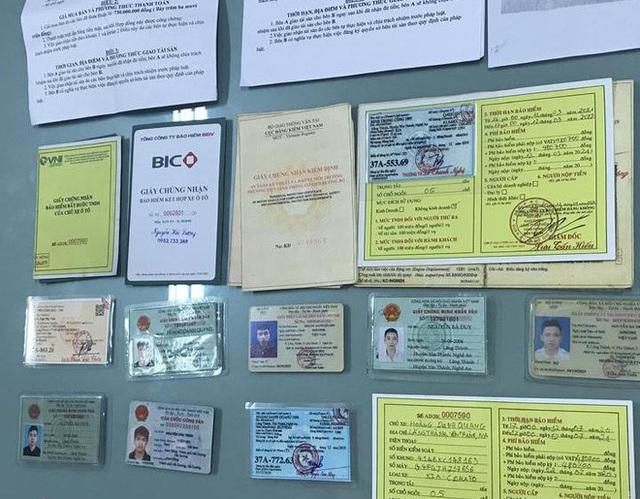 Nghệ An: Phá ổ nhóm sử dụng giấy tờ giả đi thuê hàng loạt ô tô rồi mang bán  - Ảnh 2.
