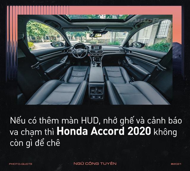 'Nghỉ chơi' với Camry, Mazda6 để tậu xe ế Honda Accord 2020, loạt người dùng nói: 'Còn điểm chê nhưng không thể thay thế' - Ảnh 6.