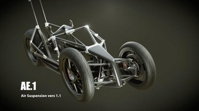 Johnny Trí Nguyễn hé lộ thêm thông tin về dự án 'mô tô 3 bánh có máy lạnh': Khung xe làm bằng carbon và treo trước là giảm xóc khí nén