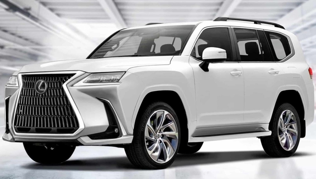 Xem trước thiết kế Lexus LX thế hệ mới: Đầu góc cạnh hơn, đuôi gần giống Toyota Land Cruiser - Ảnh 1.