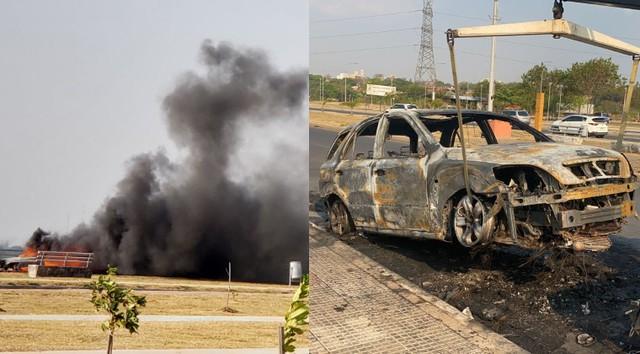 Kia Sorento vừa mua nửa tháng đã bốc cháy khi đang chạy, kết cục chỉ còn trơ khung sắt - Ảnh 3.