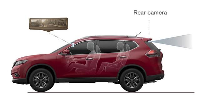 Nissan giới thiệu gương chiếu hậu thông minh trên Rogue 2014