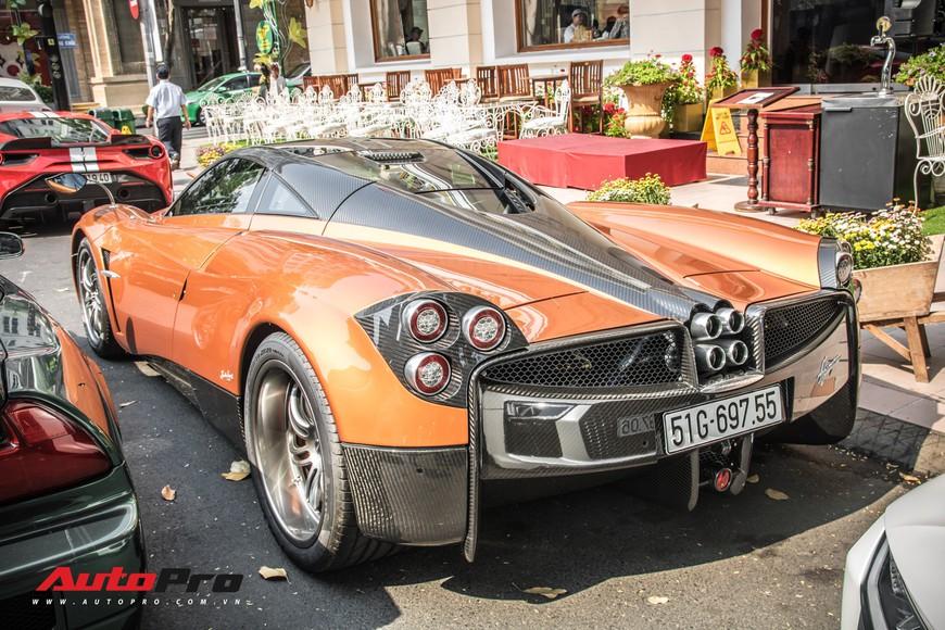 Đại gia Sài Gòn mang dàn siêu xe hàng trăm tỷ lên phố ngay sát Tết, Pagani Huayra và Acura NSX hàng độc xuất hiện - Ảnh 4.
