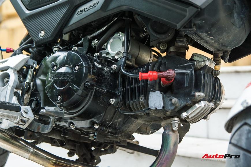 Khám phá Honda MSX đắt đỏ của dân chơi Hà thành: Tiền độ cả trăm triệu đồng, toàn độ hiệu từ Nhật, Mỹ, Thái - Ảnh 7.