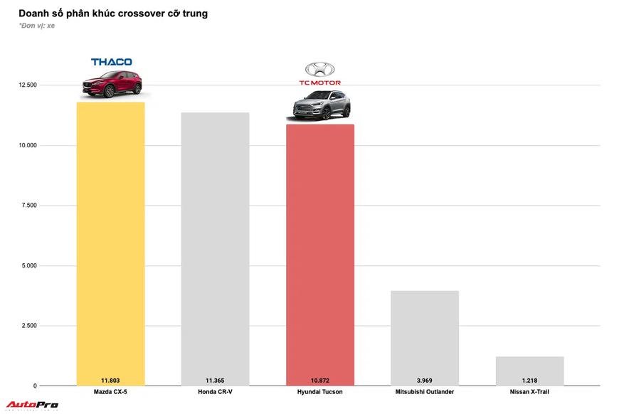 Tam trụ THACO vs Toyota vs TC Motor năm 2020: Đua tranh gay gắt từng phân khúc, cân nửa thị trường - Ảnh 8.