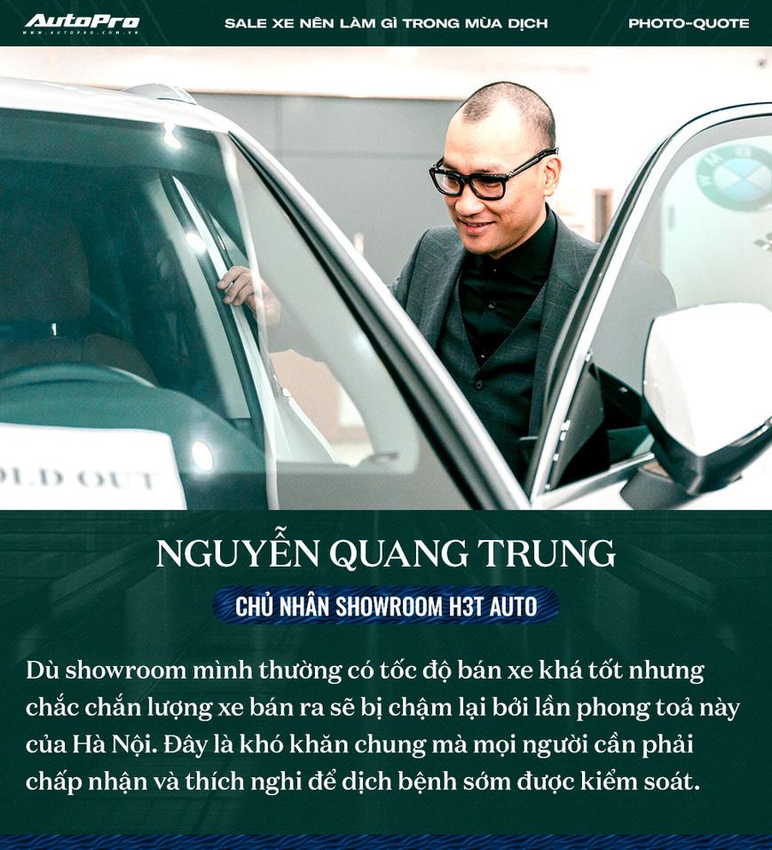 Các sếp showroom xe lớn tại Hà Nội: Thận trọng khi ôm hàng, giảm giá, hãy cho khách hàng thông tin hữu ích để bung lụa khi hết giãn cách - Ảnh 1.