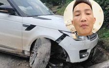 Huấn 'hoa hồng' gặp nạn: Range Rover tiền tỉ cắm đầu xuống cống, bánh trước gãy gập  hoàn toàn