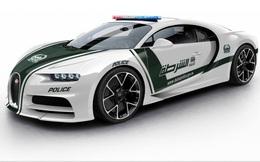 Siêu xe nhanh nhất thế giới Bugatti Chiron khoác áo cảnh sát Dubai