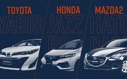 Cùng phân khúc, chọn Toyota Yaris G, Honda Jazz RS hay Mazda2 hatchback?